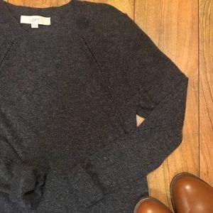 Classic grey crew neck sweater